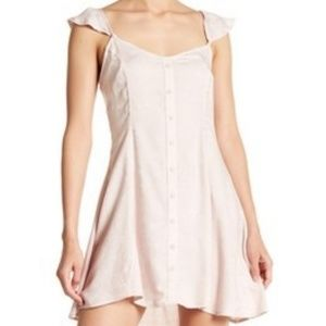Material Girl V-Neck Flutter Cap Sleeve Dress XS